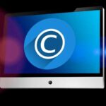 copyright symbol on computer screen